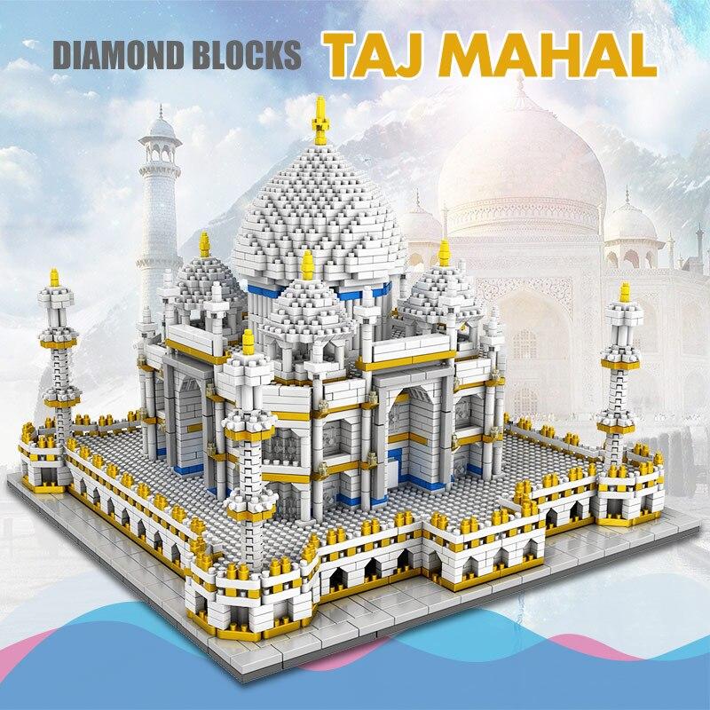blocos mundialmente famosos arquitetura taj mahal 3d 02