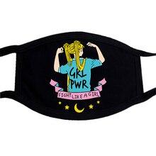 Fashion Face Mask Sailor Moon Dragon Ball Cat Cartoon Anime Masks Half Face Mouth Muffle Dustproof Masks Anti-dust Black Mask