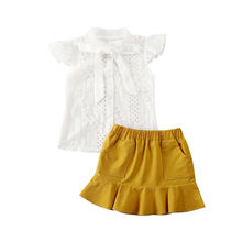 2020 Kids Baby Girl Clothes Sets Ruffles Sleeve Pageant Lace
