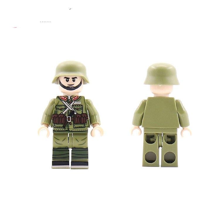 Single Sale LegoINGlys Military Building Block Bricks Soldiers Weaspon  Ww2 Figures Diy Learning Toy Children Gift Guojunrenzi