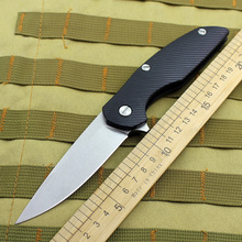 Carry-Tool Hunting-Knife Folding G10-Handle Steel-Blade Outdoor Camping Survival EDC