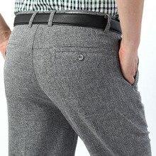 Męskie klasyczne biznesowe długie spodnie wiosna jesień duże rozmiary dorywczo luźna cienka oddychająca 10 kolorów luźne spodnie dla mężczyzn rozmiar 30 40