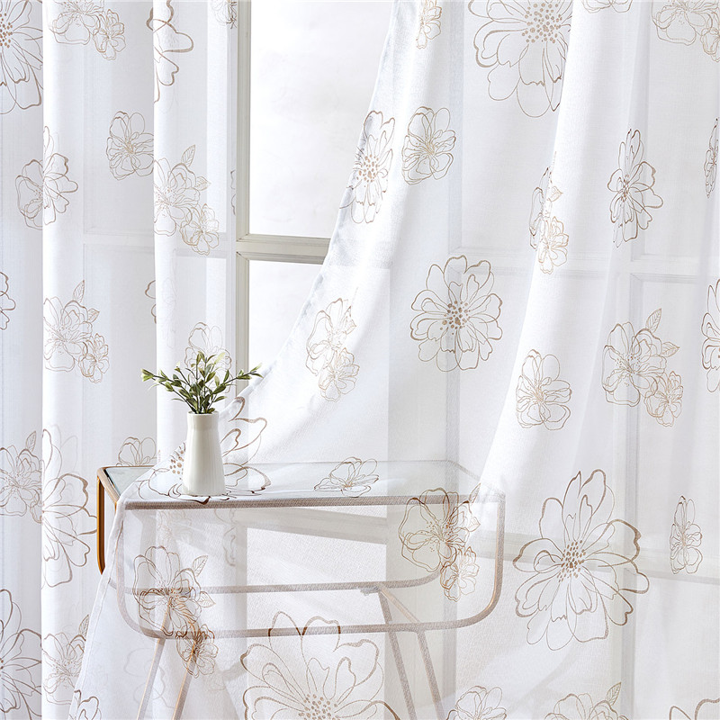 Topfinel Floral print curtains for Living Room luxury Modern Kitchen curtains for bedroom Finished Drapes Custom made 2020 new