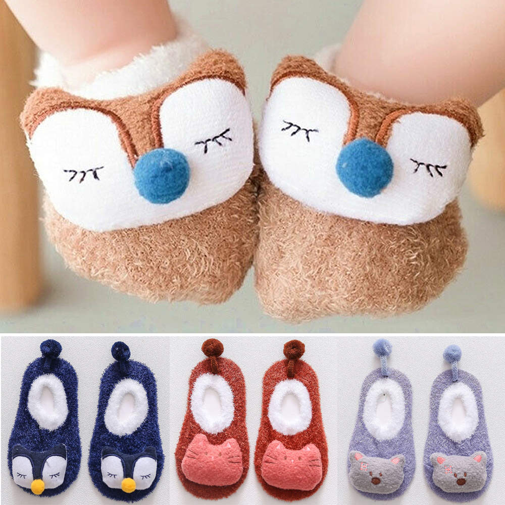 Baby Foot Socks Cartoon Animal Newborn Slipper Knitted Shoes Boots Socks Baby Girl Boy Anti-slip Socks