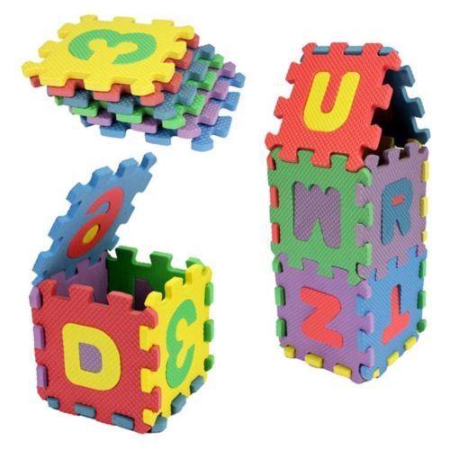 1 Set Foam Puzzle Seat Cushion New Alphabet & Numerals Mini Puzzle Hand&Brain Exercise Mat Child Gift Pad