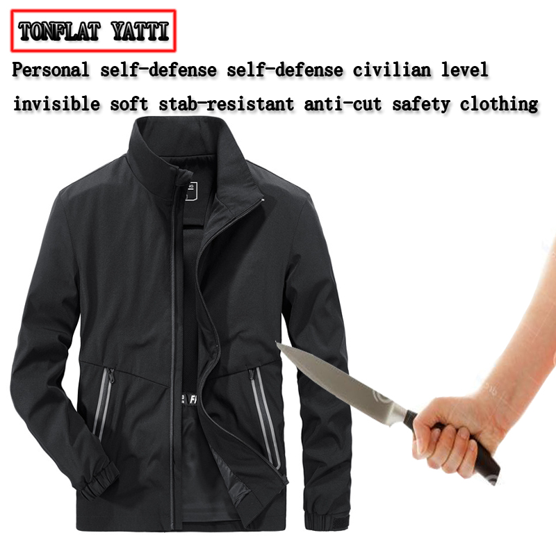 Anti-cutting Stab-resistant Defensa Policial Men Jackets Civilian Travel Party Outdoor Safety Stealth Protective Hack Clothing