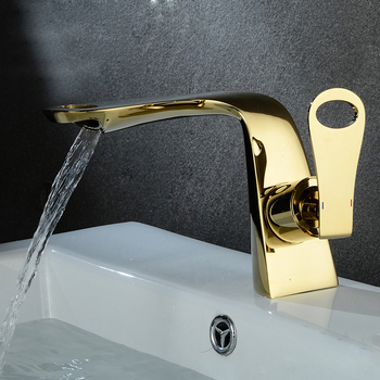 Bathroom Basin Faucet White and Gold/Chrome Brass Sink faucet Single Hole Cold and Hot Water Tap Basin Faucet Mixer Tap Torneira