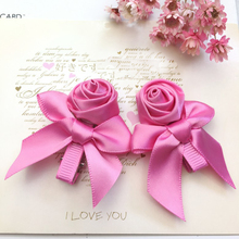 100pcs/lot Wholesale Flower hair clip Pink Red Rose Hairpin Hairgrips Korean Girls Headwear Hair Accessories