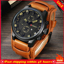 Curren Top Brand Fashion Sport Heren Horloges Man Casual Waterdicht Quartz Lederen Band Klok Militaire Datum Mannelijke Horloge 8225(China)