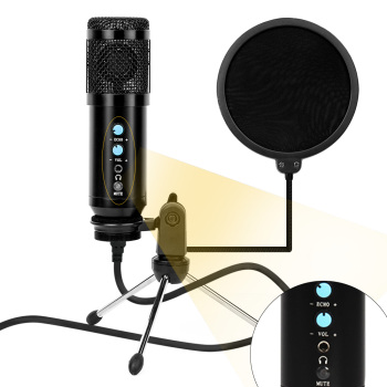 Professional Microphone Condenser Sound Recording 3.5Mm Wired BM 800 Microphone Kits With Shock Mount For computer Studio Record bm 800 professional 3 5mm wired condenser sound recording microphone with metal shock mount for radio braodcasting computer