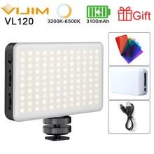 Ulanzi VIJIM VL120 3200k-6500K luz LED para vídeo Cámara luz RGB regulable Luz de estudio Video conferencia luz suave luz de relleno