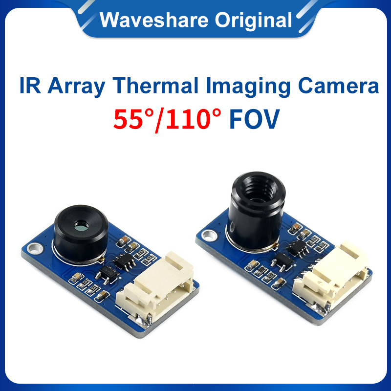 Waveshare  IR Array Thermal Imaging Camera, 32*24 Pixels,55 Degree/110 DegreeField Of View, I2C Interface,MLX90640