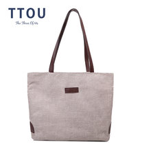 Женская Холщовая Сумка для покупок женская сумка на плечо Экологичная