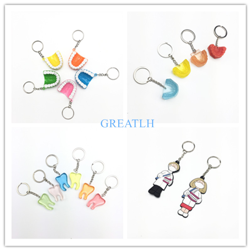 Little Dental Gift Dentistry Clinic Assorted Key Chain For Dentist Lab Kawaii Dentist Gift