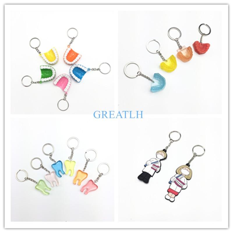 Little Dental Gift Dentistry Clinic Assorted Key Chain For Dentist Lab Kawaii Dentist Gift