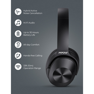 Image 5 - Mpow H12 Bluetooth ANC Headphone Active Noise Canceling Wireless Headphones Wired Headset With HiFi Sound Deep Bass 30H Playtime