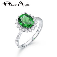 Черный Ангел 2020 новый 925 серебро созданные изумрудно зеленый