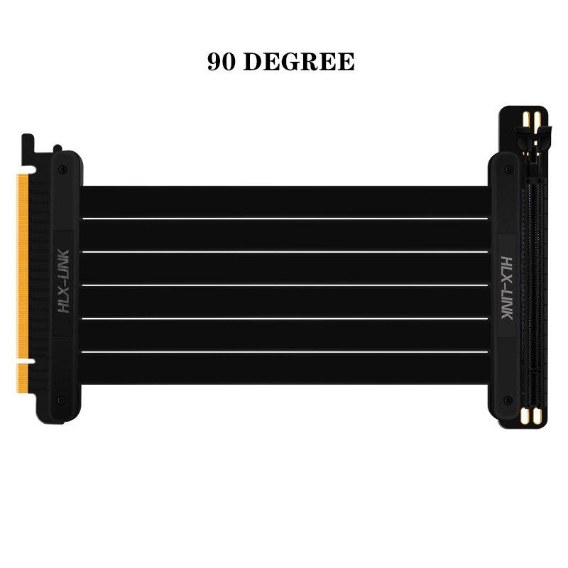 Высокоскоростной ПК Видеокарта PCIE 3,0 16x Удлинительный кабель гибкий полный скоростной Удлинительный кабель вертикальное соединение для GPU ...