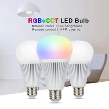 Milight Led Bulb E27 6W 9W RGBCCT 2.4G Wireless Dimmable Smart Led Light AC85-265V Brightness Lighting 2.4G RF Remote Controller 1 x mi light ac86 265v e27 9w cw ww led lamp color temperature dimmable led bulb 1 x 2 4g wireless ios android wifi controller