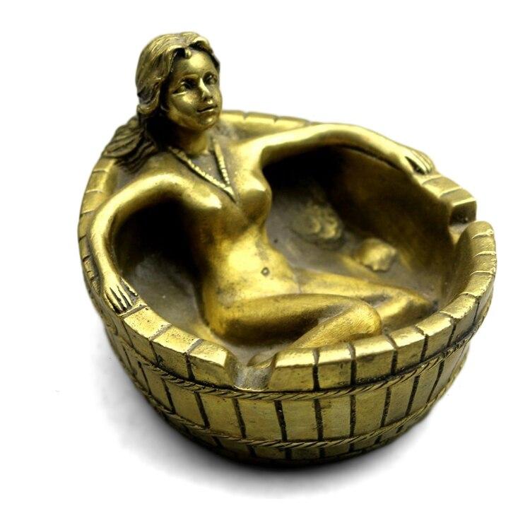 LAOJUNLU Archaize cendrier de beauté en cuivre | Décoration créative et érotique pour la maison, en cuivre pur