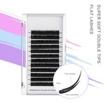 H&L SINCE 1990 Flat Ellipse Eyelashes Maquiagem Split Tips Ellipse Shaped Natural Light Magnetic Eyelash Extension
