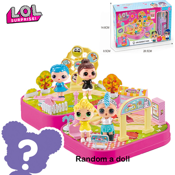LOL Surprise Dolls DIY Play House Amusement Park with Random Doll Set Anime L.O.L. Surprise Dolls Toys for Girls Birthday Gifts