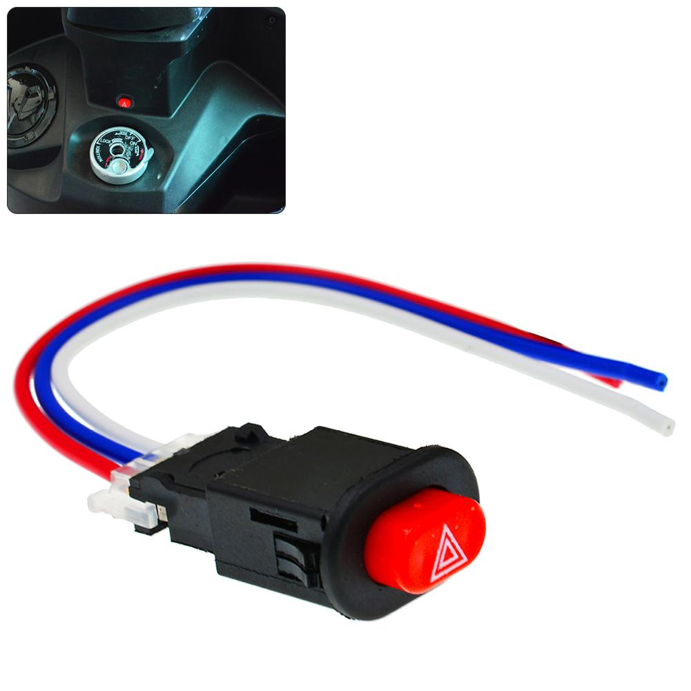 Motorcycle Hazard Light Lamp Switch Emergency Signal Double Warning Flasher Motorcycle Accessories Clignotant Moto