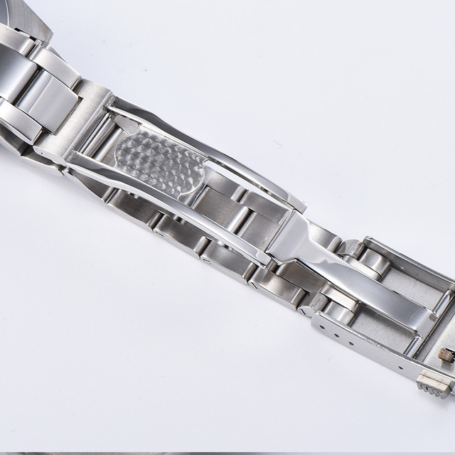 New Parnis Gray Dial Mens Watches Calendar Miyota 8215 Movement 21 Jewels Automatic Mechanical Stainless Steel Strap Men Watch