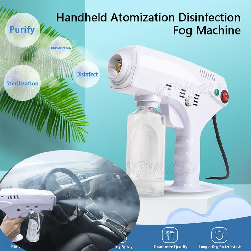 1200W Handheld Atomization Disinfection Fog Machine Stage Smoke Machine Blue Light Nano Steam Gun Hair Spray Machine 220V 110V