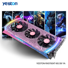 Видеокарта Yeston Radeon RX 5700 XT GPU 8 Гб GDDR6 256bit 7nm для игрового настольного компьютера ПК видеокарты Поддержка DP/HDMI PCI E X 16 3,0