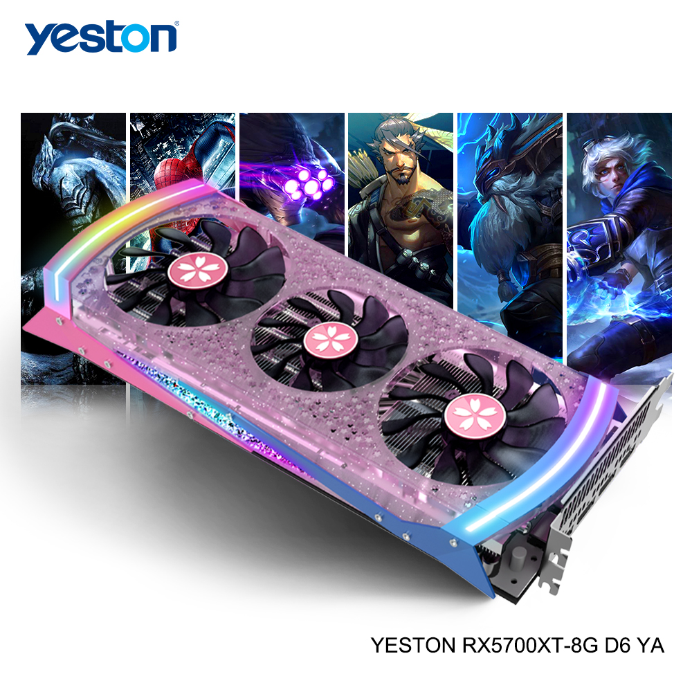 Yeston Radeon RX 5700 XT GPU 8GB GDDR6 256bit 7nm Gaming Desktop Computer PC Video Graphics Cards Support DP/HDMI PCI-E X 16 3.0