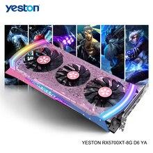 Yeston Radeon RX 5700 XT GPU 8GB GDDR6 256bit 7nm 게임용 데스크탑 컴퓨터 PC 비디오 그래픽 카드 지원 DP/HDMI PCI E X 16 3.0