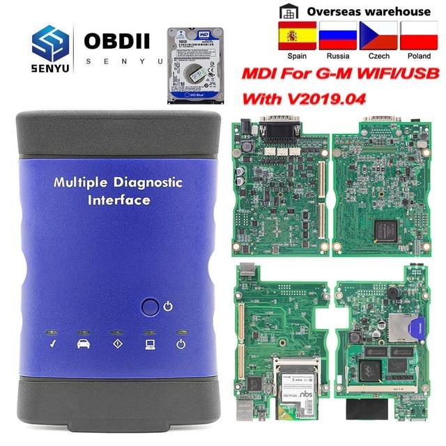 GM V2019.04 에 대 한 MDI GM MDI MDI2 WIFI/USB gds2에 대 한 MDI 2 여러 진단 인터페이스 Tech2win OBD2 자동차 진단 자동 도구