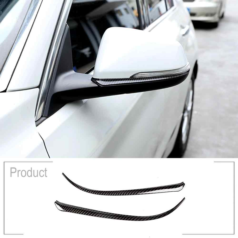 Carbon Fiber Side Rearview Mirror Strips Trim For BMW X1 F48 X2 F47 2018 1 2 Series Active Tourer f45 f46 218i