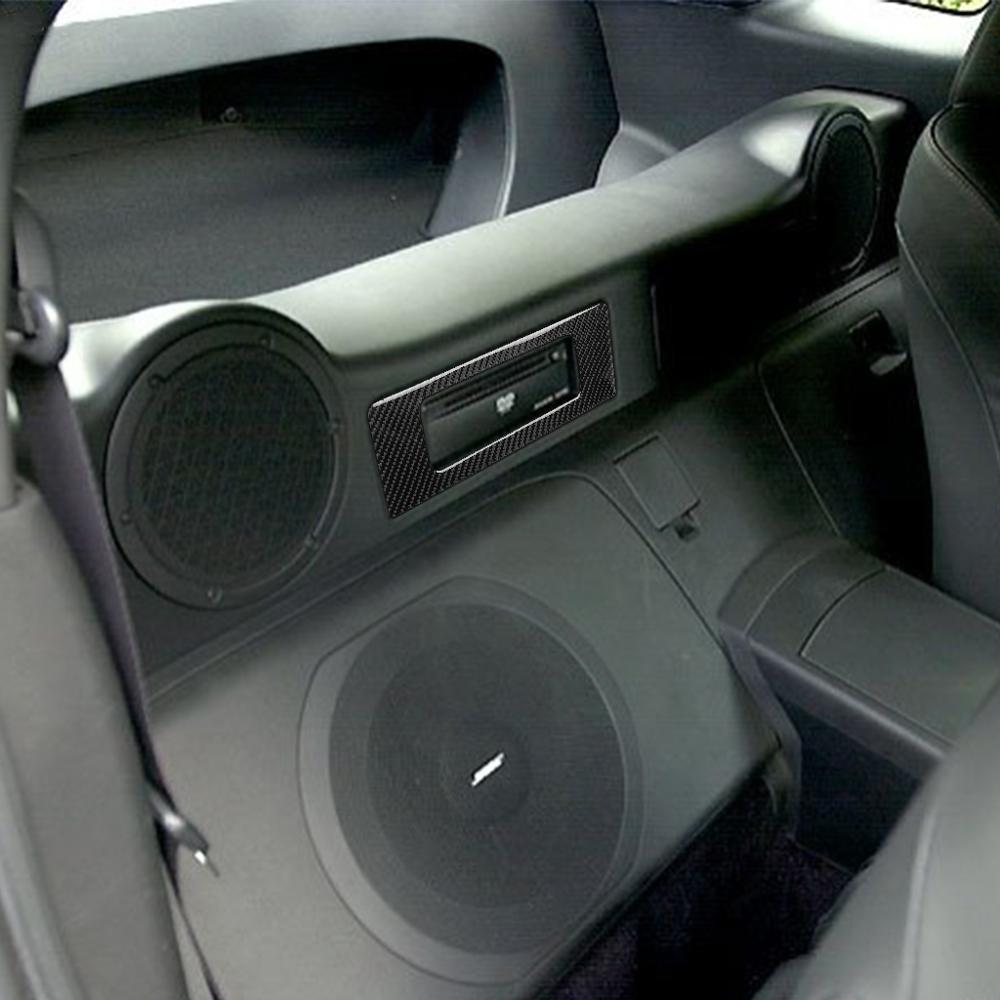 Voiture en Fiber de carbone DVD lecteur de musique panneau couverture modifié autocollant décoratif pour Nissan 350Z Z33 2006-2009