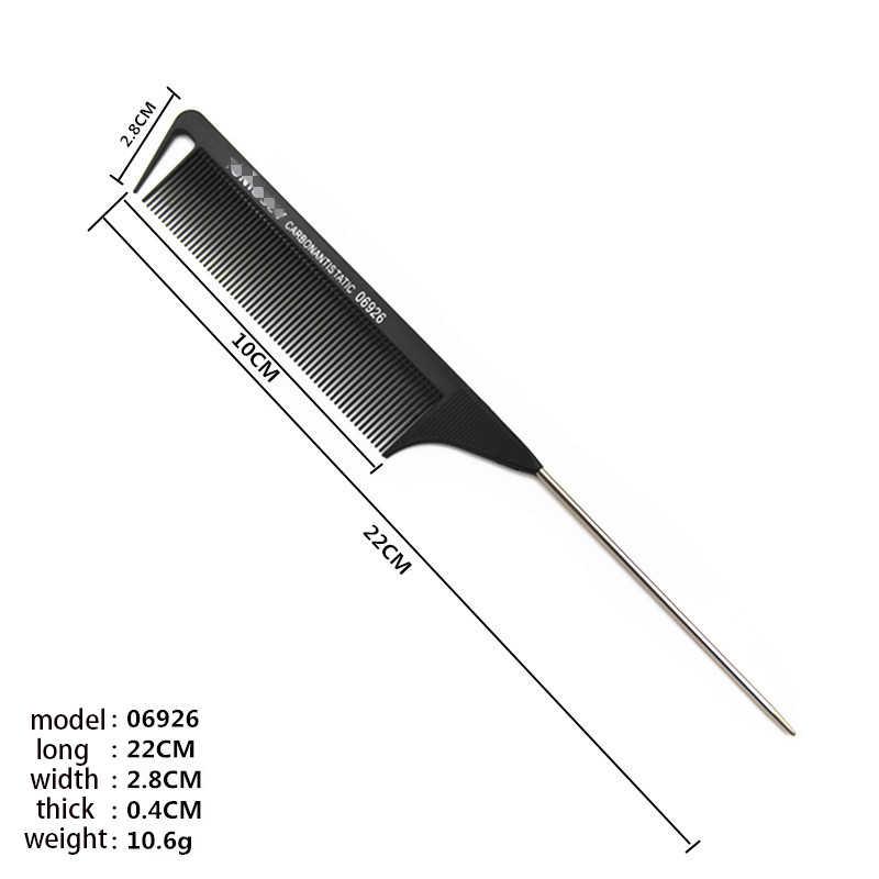 Nieuwe 1 Pcs Steil Haar Kam Zwart Fijne Tand Metalen Pin Anti-Statische Haar Stijl Rat Staart Combhair styling Tool Voor Schoonheid