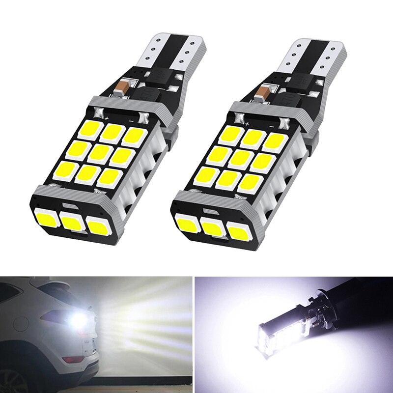 2x T16 T15 W16W Canbus LED Backup Reverse Light For Nissan Juke 2011-2015 6000K Xenon White DC 12V Car Lights Auto Lamp