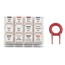 흰색 Keycaps 테스트 도구 Cherry 12 MX 스위치 키보드 테스터 키트 Clear Keycaps 샘플러 PCB 기계식 키보드