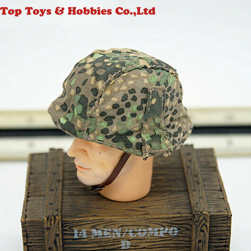 1/6 Scale Helmet 1/6 Scale Dragon WWII Light Camouflage Helmet German Cap Cover Model For 12 Inches Male Soldier
