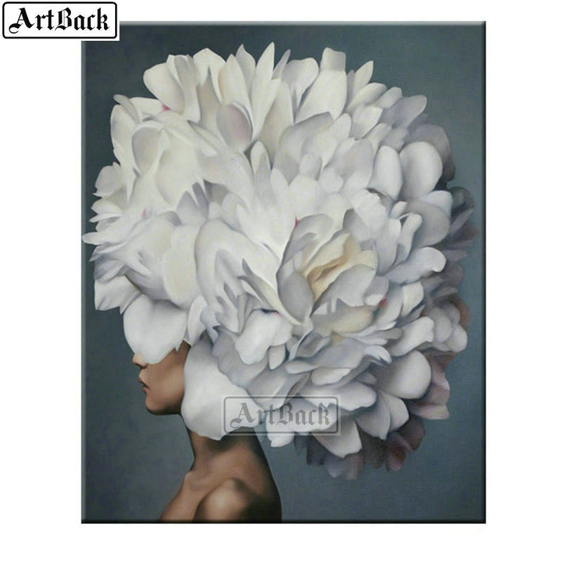 <font><b>Sexy</b></font> <font><b>woman</b></font> head on flower <font><b>diamond</b></font> <font><b>painting</b></font> full square <font><b>diy</b></font> <font><b>5d</b></font> <font><b>diamond</b></font> art abstract pattern <font><b>diamond</b></font> mosaic sticker image