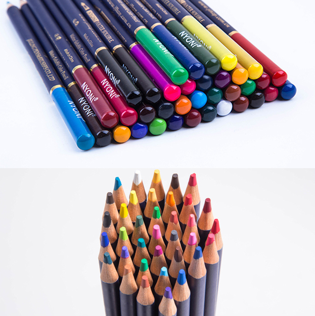 NYONI 36/48/72Colors Watercolor Pencils Set Drawing Pencils Crayons Lapices De Colores Colored Pencils Art Sketch Colour Pencil 4