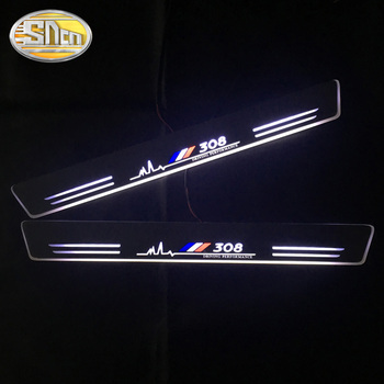 For Peugeot 307 206 308 407 207 3008 208 508 2008 301 408 4008 5008 LED Door Sill Scuff Plate Guards Streamer dynamic pedal egr exhaust valve for ford focus mk2 fiesta vi v c max 1 6 tdci for peugeot 206 207 307 308 407 1 6 hdi 1618nr 161859 9672880080