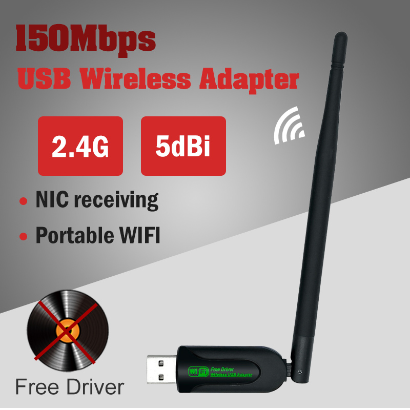 Usb Laptop Wifi Adapter Ethernet Lan Wireless 802.11n Laptop Dongle Card Antena Adaptador 2.4g 5ghz Wi Fi Receiver Wi-fi 5g Mbps