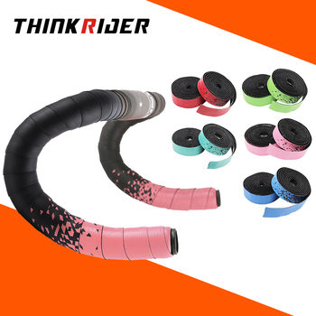 ThinkRider Handlebar tape Road bike Camouflage handle belt warp with bar plugs 1 pair EVA racing bicycle fouriers bicycle drop handlebar tape wraps pu fixed gear road bike handle bar tapes belt with holes pair with ends