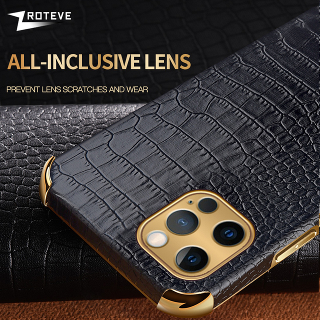Zroteve For iPhone 12 11 Pro Max Mini Cover Crocodile Pattern Coque For Apple iPhone X S XR XS Max 8 7 6 S 6S Plus SE 2020 Cases 5