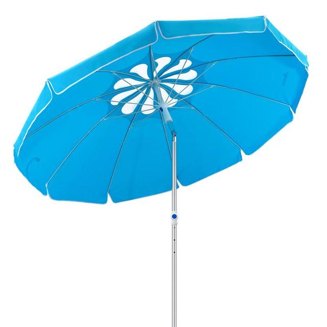 MOVTOTOP 1PC Flower Design Beach Umbrella UV Protection with Aluminum Pole Portable Wind Beach Umbrella Adjustable Sand Umbrella 1
