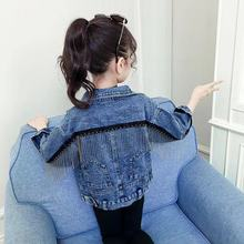 Fashion Baby Kid Girls 2020 Spring Autumn Jeans Jacket Long