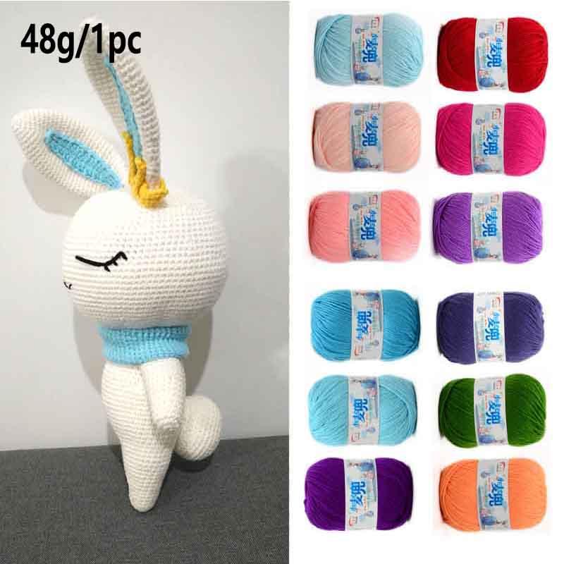 48g/25 Color  Warm DIY Milk Cotton Yarn Baby Wool Yarn For Knitting Children Hand Knitted Yarn Knit Blanket Crochet Yarn