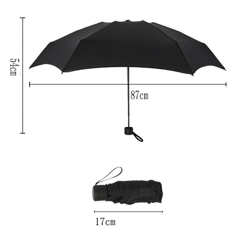 Cross Border Currently Available Mini Fresh All-Weather Umbrella Parasol Creative Ultra-Light Folding kou dai san