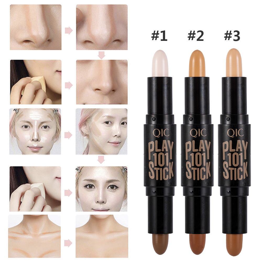 New Lady Facial Highlight Foundation Base Contour Stick Beauty Make Up Face Powder Cream Shimmer Concealer Camouflage Pen Makeup